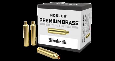 26 Nosler Premium Brass (25ct)