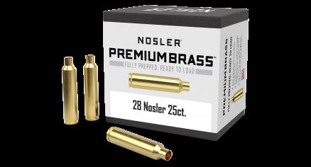 28 Nosler Premium Brass (25ct)