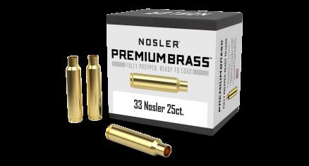 33 Nosler Premium Brass (25ct)