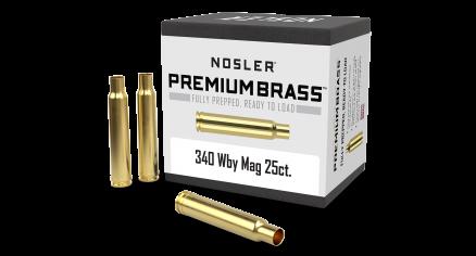340 WBY Premium Brass (25ct)