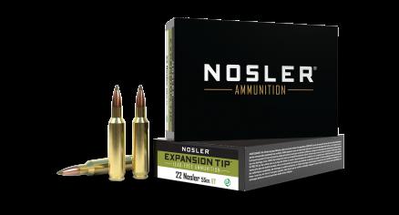 22 Nosler 55gr Expansion Tip Lead Free Ammunition