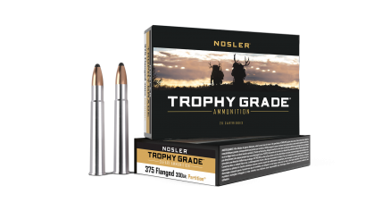 375 Flanged 300gr Trophy Grade-Safari Partition Ammunition