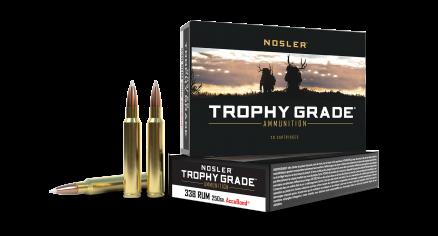 338 RUM 250gr AccuBond Trophy Grade Ammunition