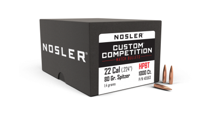 22 Caliber 80gr HPBT Custom Competition (1000ct)