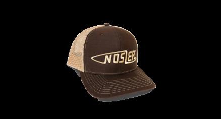 Nosler® Bullet Logo Trucker Hat (Brown / Beige)