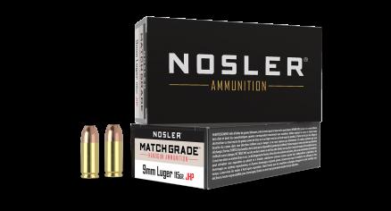 9mm 115gr JHP Match Grade Handgun Ammunition