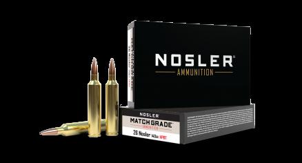 26 Nosler 140gr Custom Competition Match Grade Ammunition