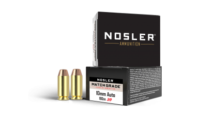 10mm 180gr JHP Match Grade Handgun Ammunition (20ct)