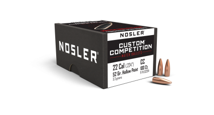 22 Caliber 52gr Custom Competition HPBT (100ct)