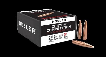 338 Caliber 300gr HPBT Custom Competition (100ct)