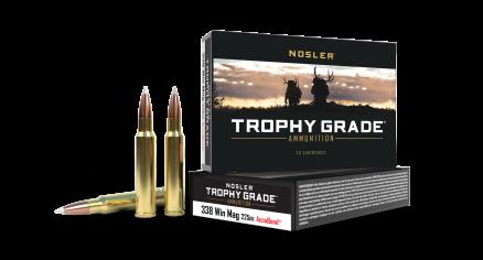 338 Win Mag 225gr AccuBond Trophy Grade Ammunition