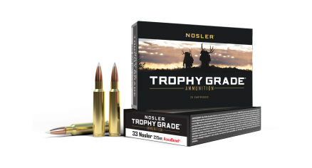 33 Nosler 225gr AccuBond Trophy Grade Ammunition