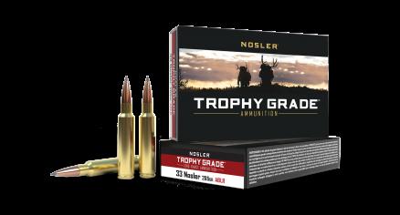 33 Nosler 265gr AccuBond Trophy Grade Long Range Ammunition