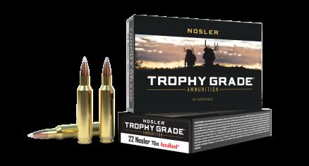 22 Nosler 70gr AccuBond Trophy Grade Ammunition
