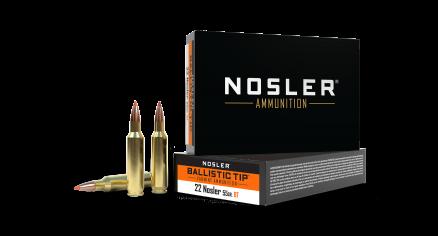 22 Nosler 55gr Ballistic Tip Varmint Ammunition
