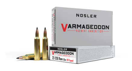 22-250 Remington 55gr Varmageddon FB Tipped Ammunition