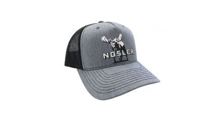 Nosler® Moose Logo Trucker Hat (Grey / Black)