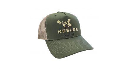 Nosler® Moose Logo Trucker Hat (Olive / Beige)