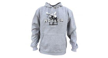 Nosler Moose Logo Hoodie - Heather Grey