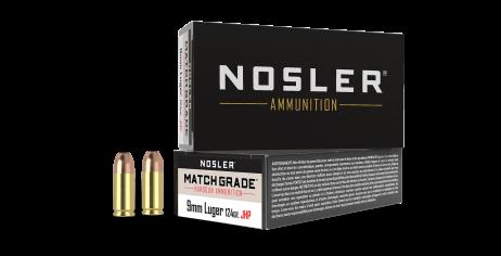 9mm Luger 124gr JHP Match Grade Handgun Ammunition (50ct)
