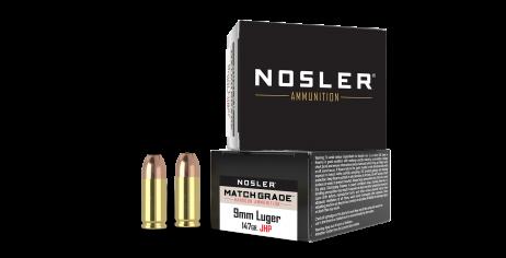 9mm Luger 147gr JHP Match Grade Handgun Ammunition (20ct)