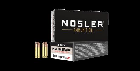 9mm Luger 147gr JHP Match Grade Handgun Ammunition (50ct)