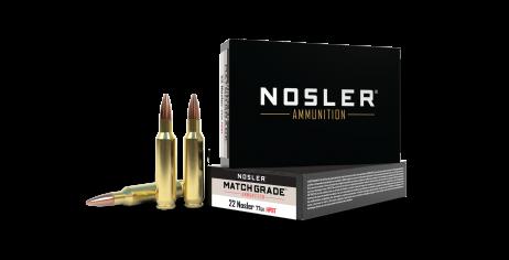 22 Nosler 77gr Custom Competition Match Grade Ammunition